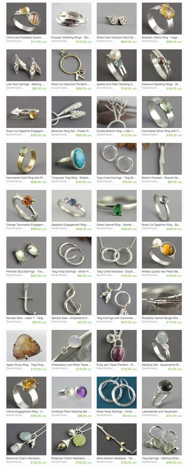 Sarah Hood Jewelry on Etsy - Ready to Ship